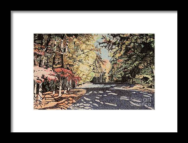 Forest Framed Print featuring the painting Dappled Light by Terri Thompson