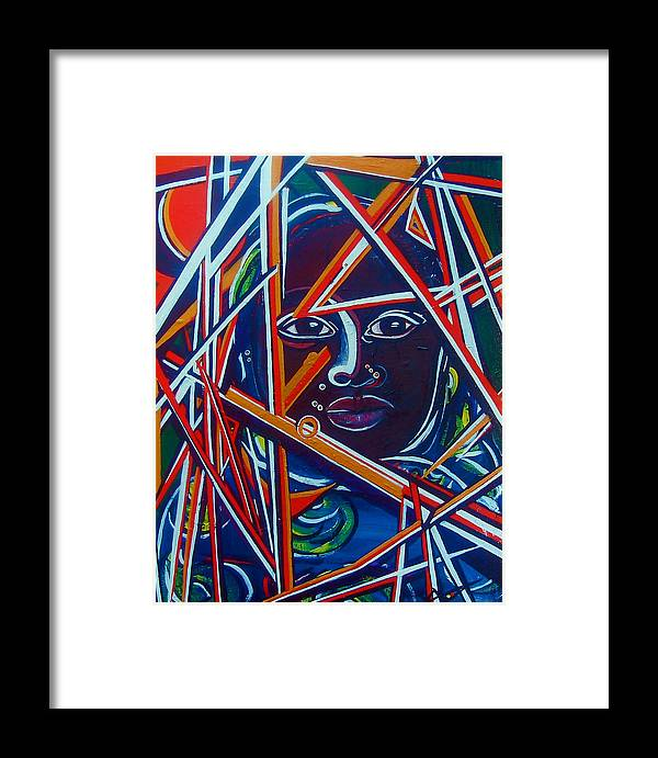 Darfur Framed Print featuring the painting Darfur - Lady Hope by Valerie Wolf