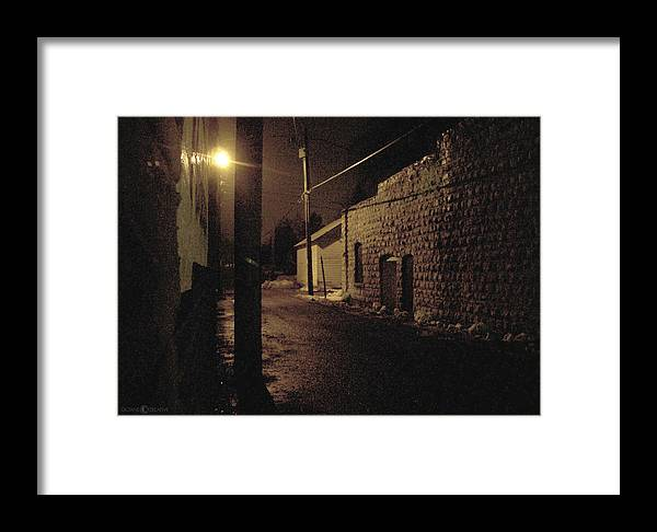 Alley Framed Print featuring the photograph Dark Alley by Tim Nyberg