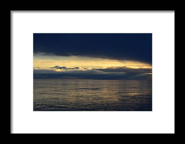 Clouds Framed Print featuring the photograph Dark Clouds by Lyle Crump