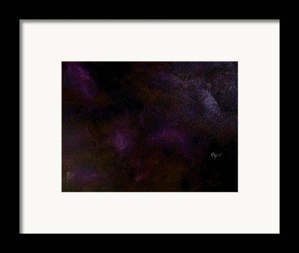 Abstract Framed Print featuring the painting Dark Colors by Guillermo Mason