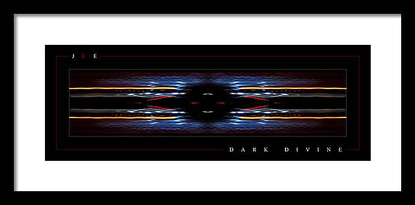 Abstract Framed Print featuring the photograph Dark Divine by Jonathan Ellis Keys