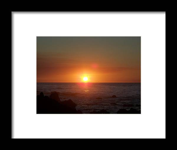 Sunsets Framed Print featuring the photograph Dark Glow by Maggie Cruser