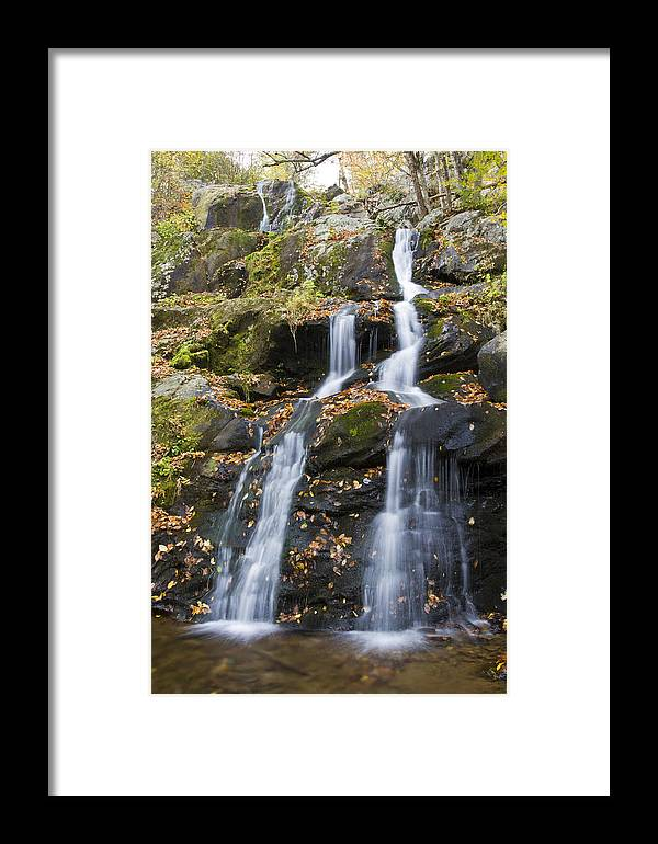 Shenandoah Framed Print featuring the photograph Dark Hollow Falls Shenandoah National Park by Pierre Leclerc Photography