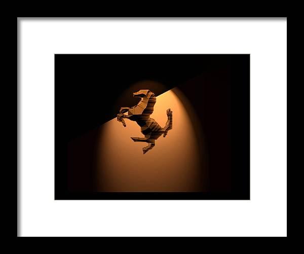 Dark Horse Framed Print featuring the digital art Dark Horse 45 by Debolina Moitra