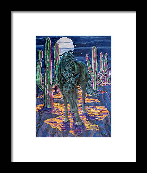 Horse Framed Print featuring the painting Dark Horse by Karin Griffiths