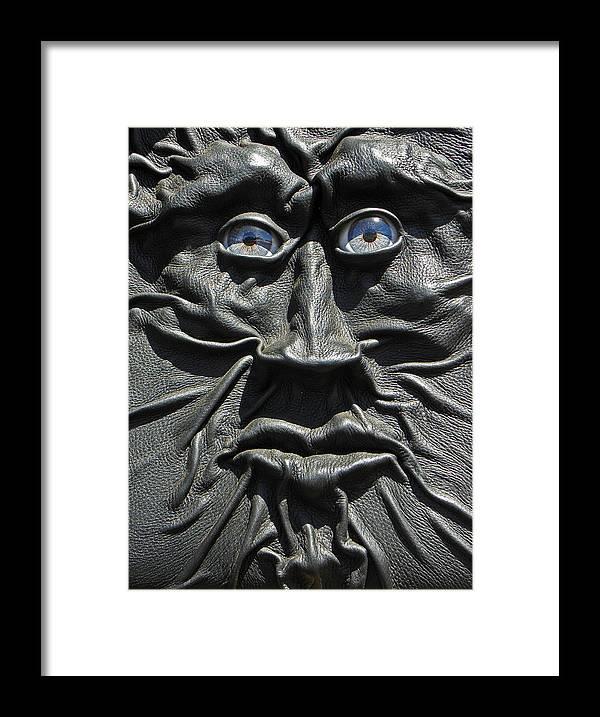 Digital Framed Print featuring the photograph Dark Man by Elizabeth Hoskinson