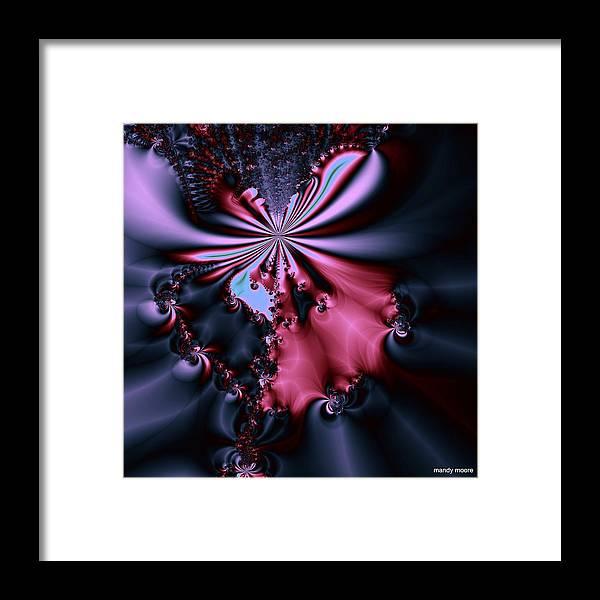 Digital Art Framed Print featuring the digital art Dark Orchid by Amanda Moore