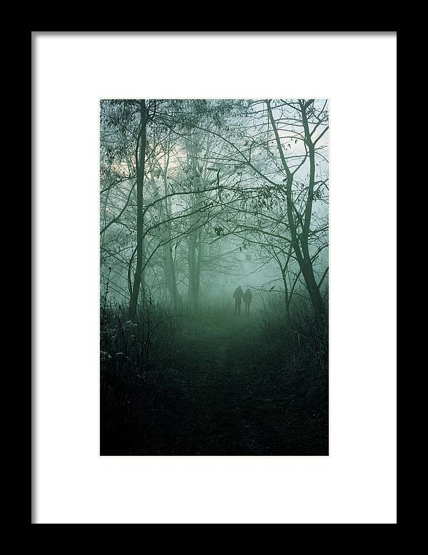 Dark Framed Print featuring the photograph Dark Paths by Cambion Art