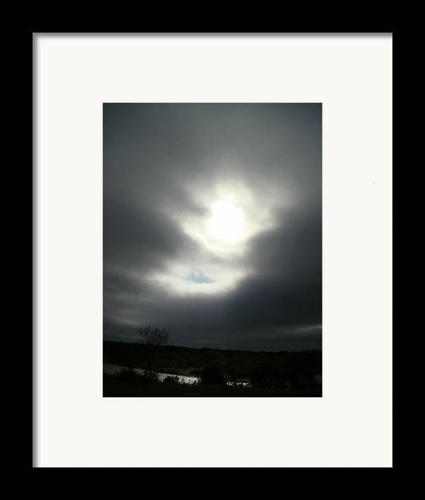 Dark Framed Print featuring the photograph Dark Sky One by Ana Villaronga