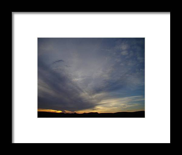 Dark Framed Print featuring the photograph Dark Sunset Four by Ana Villaronga