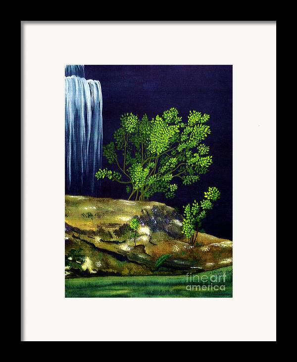 Fine Art Framed Print featuring the painting Dark Waters by Patricia Griffin Brett