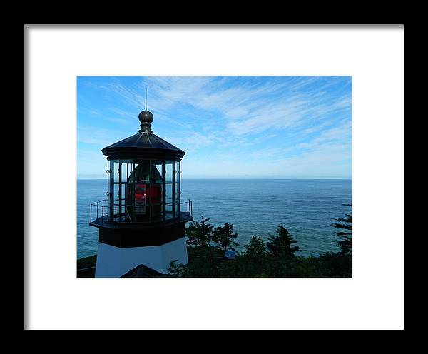 Oregon Framed Print featuring the photograph Darkened Lighthouse by Gallery Of Hope