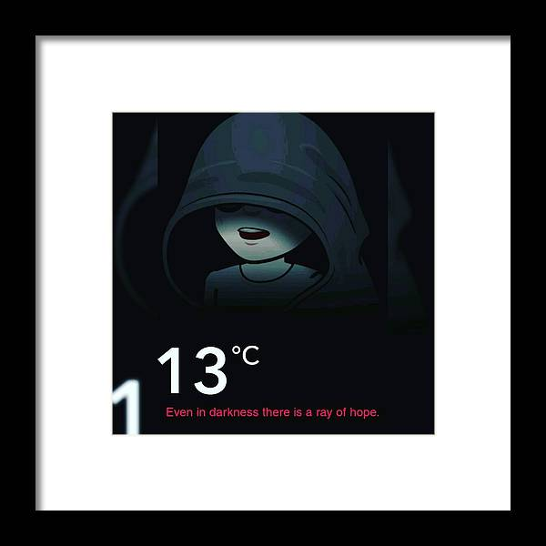 Dark Framed Print featuring the photograph Darkness by Anant Prakash