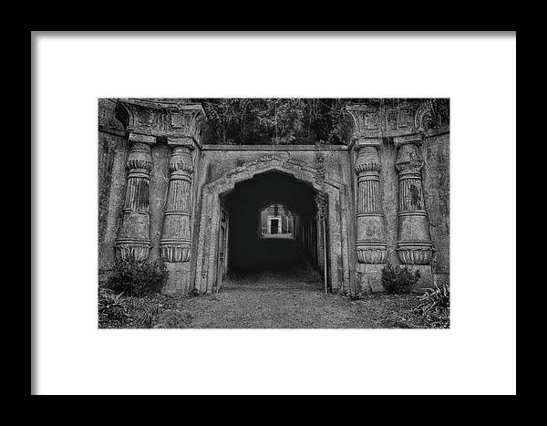 Anglican Framed Print featuring the photograph Darkness by Monika Tymanowska