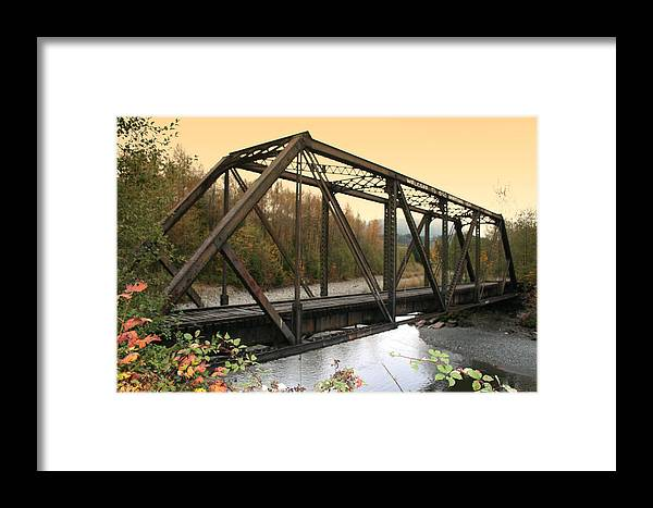 Bridge Framed Print featuring the photograph Darrington Bridge Br-6002 by Mary Gaines