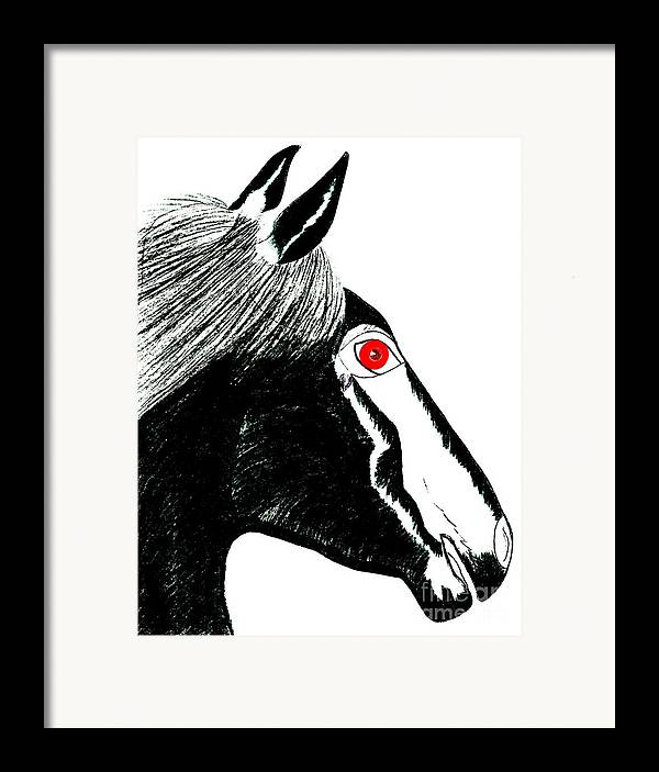 Horses Framed Print featuring the painting Darwin by Tess M J Iroldi