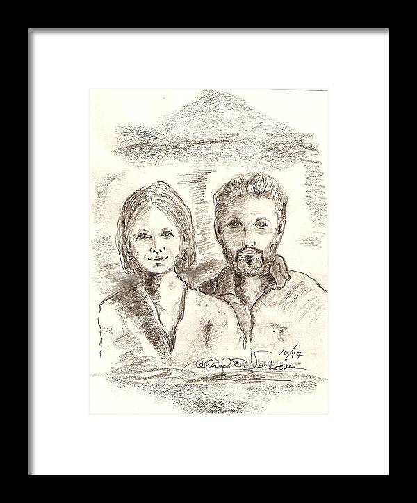 Portrait Drawing Emotion Berlin Restoration Framed Print featuring the drawing Das Berliner by Alfred P Verhoeven