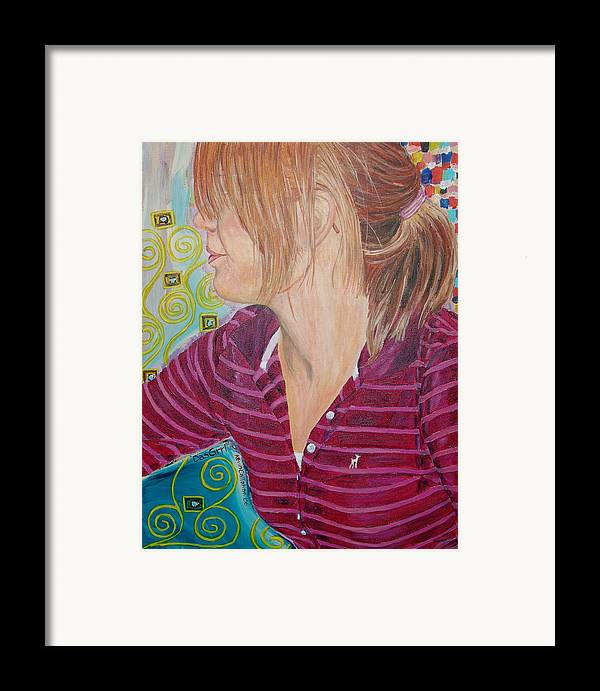 Kevin Callahan Framed Print featuring the painting Das Girl by Kevin Callahan