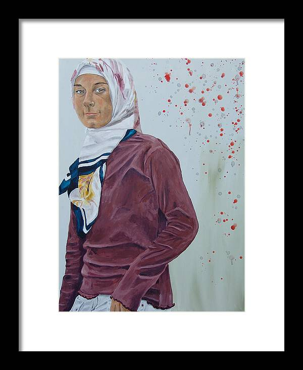 Girl Framed Print featuring the painting Daughter Of The Prophet by Kevin Callahan