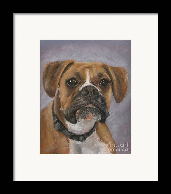 Boxers Framed Print featuring the painting Dave by Elizabeth Ellis
