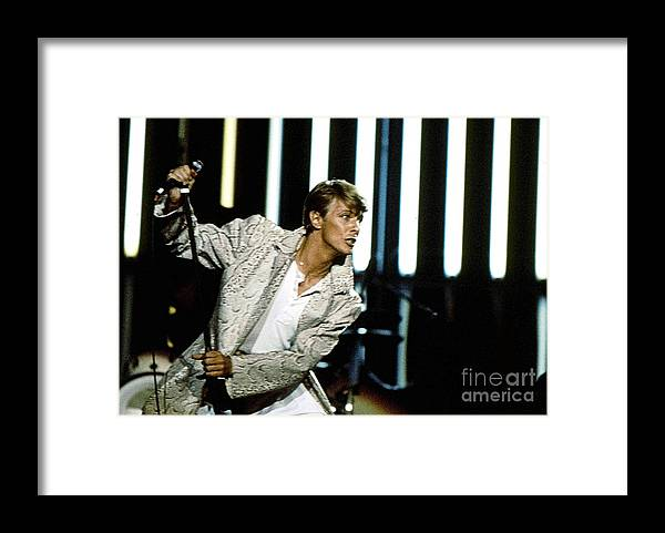 David Bowie Framed Print featuring the photograph David Bowie Action Man by Sue Halstenberg