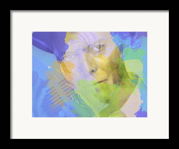 David Bowie Framed Print featuring the painting David Bowie by Naxart Studio