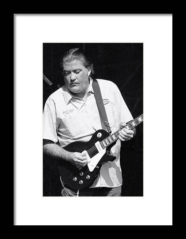 David Hidalgo, Los Lobos Framed Print by Wayne Doyle