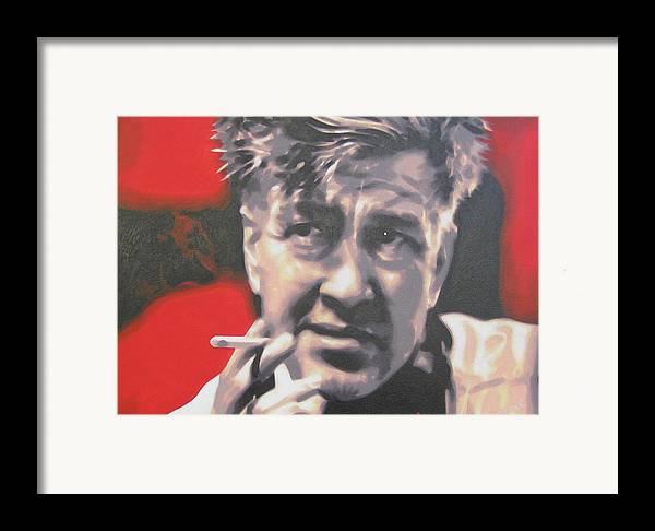 Laura Palmer Framed Print featuring the painting David Lynch by Luis Ludzska