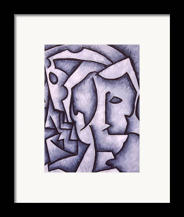 Abstract Framed Print featuring the painting David by Thomas Valentine