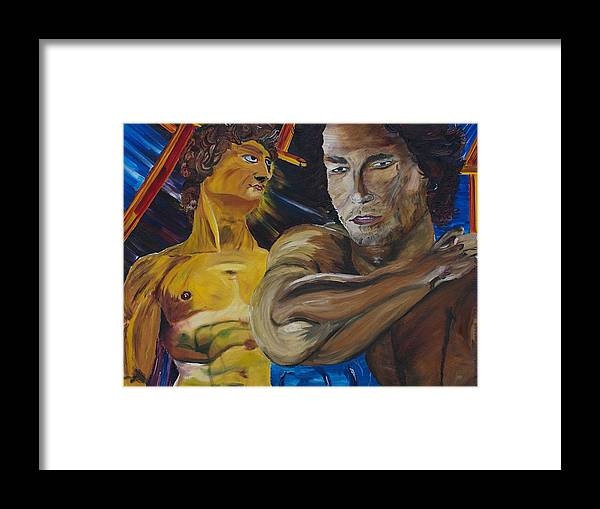The David Framed Print featuring the painting David V. Hollywood by Gregory Allen Page