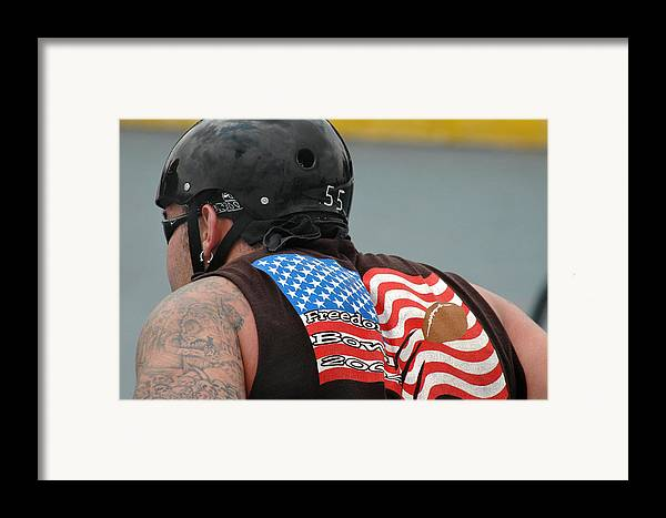 Flag Framed Print featuring the photograph David's Flag by Michael Ziegler