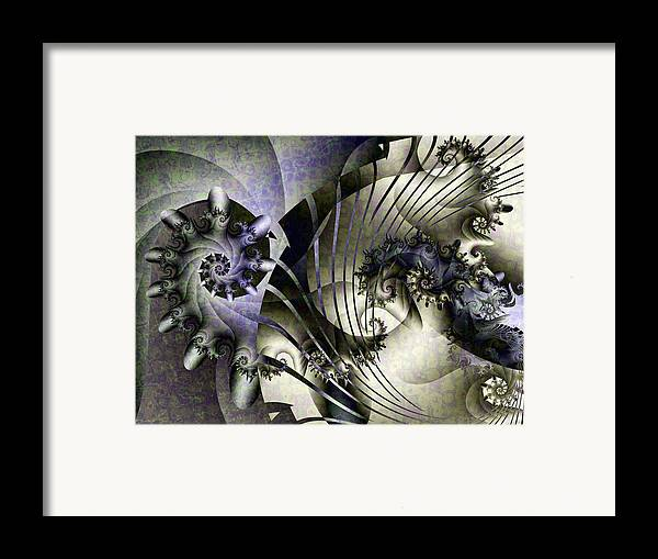 Fractal Framed Print featuring the digital art David's Lyre by David April