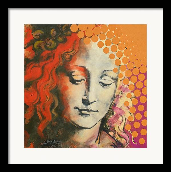 Figurative Framed Print featuring the painting Davinci's Head by Jean Pierre Rousselet