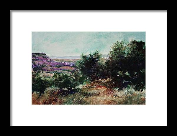 Pastel Framed Print featuring the painting Davis Mountain by Marlene Gremillion