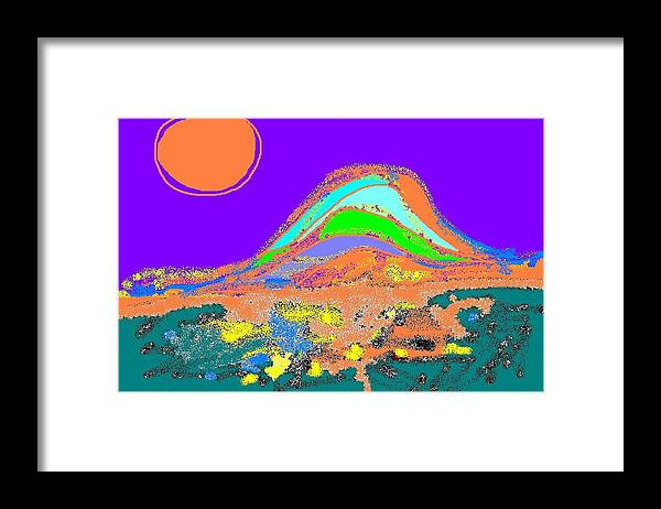 Framed Print featuring the digital art Dawn II by Beebe Barksdale-Bruner