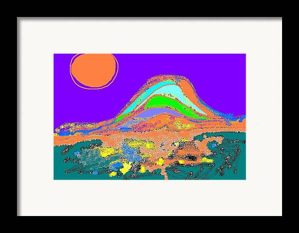 Framed Print featuring the digital art Dawn II by Beebe Barksdale-Bruner