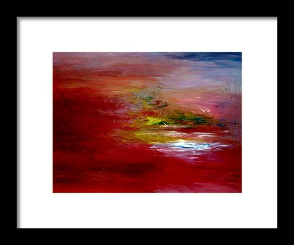 Scene Framed Print featuring the painting Dawn by LeeAnn Alexander