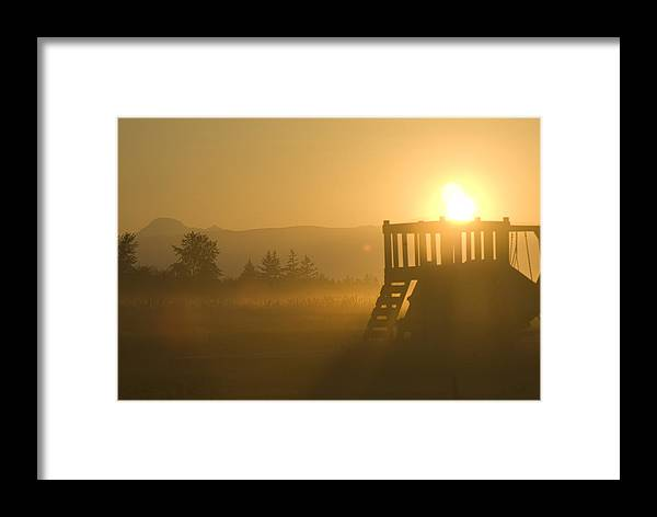 Sunrise Framed Print featuring the photograph Dawn by Louise Magno