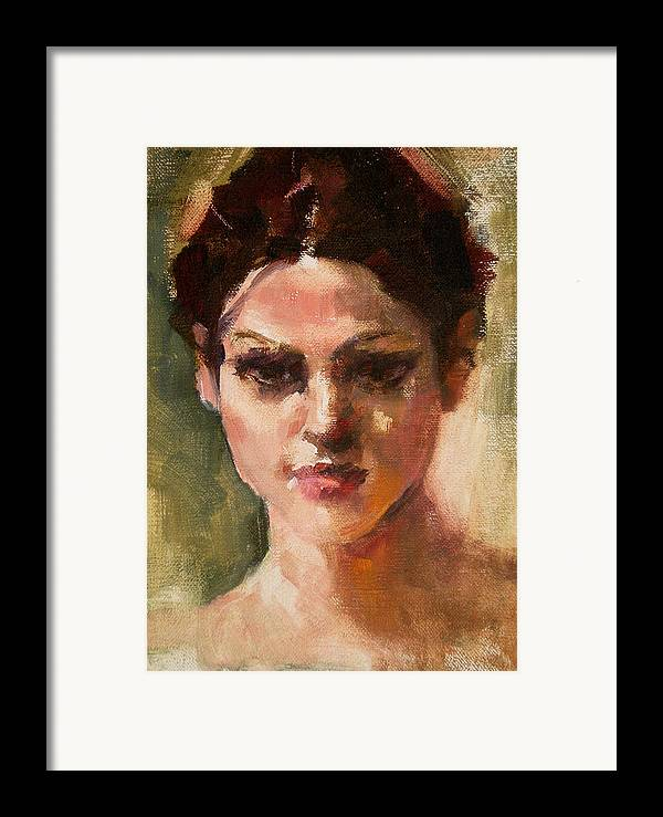 Portrait Framed Print featuring the painting Dawn by Merle Keller