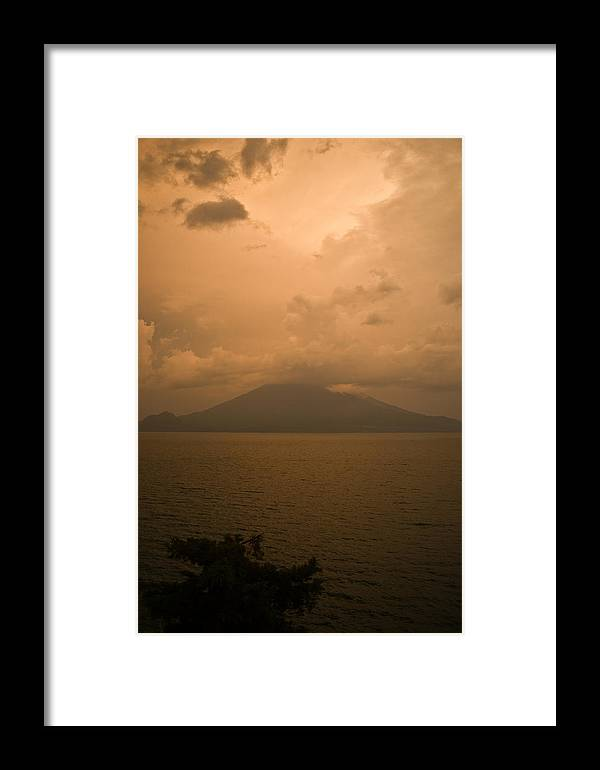 Central Framed Print featuring the photograph Dawn Over The Volcano 2 by Douglas Barnett