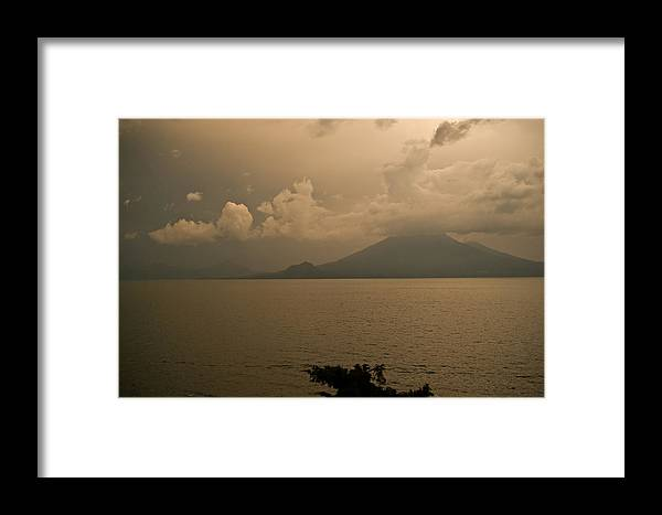 Dawn Framed Print featuring the photograph Dawn Over The Volcano by Douglas Barnett