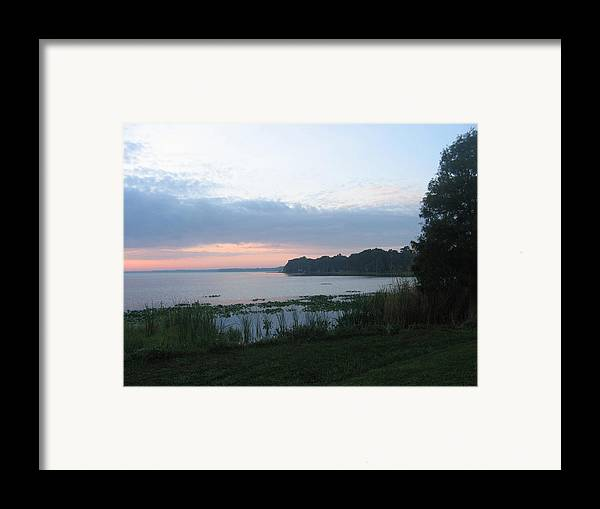 Sunrise-sunset Photographs Framed Print featuring the photograph Dawn Over West Cove by Frederic Kohli