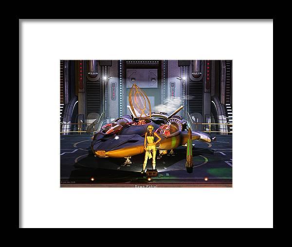 Jim Coe Framed Print featuring the digital art Dawn Patrol by Jim Coe