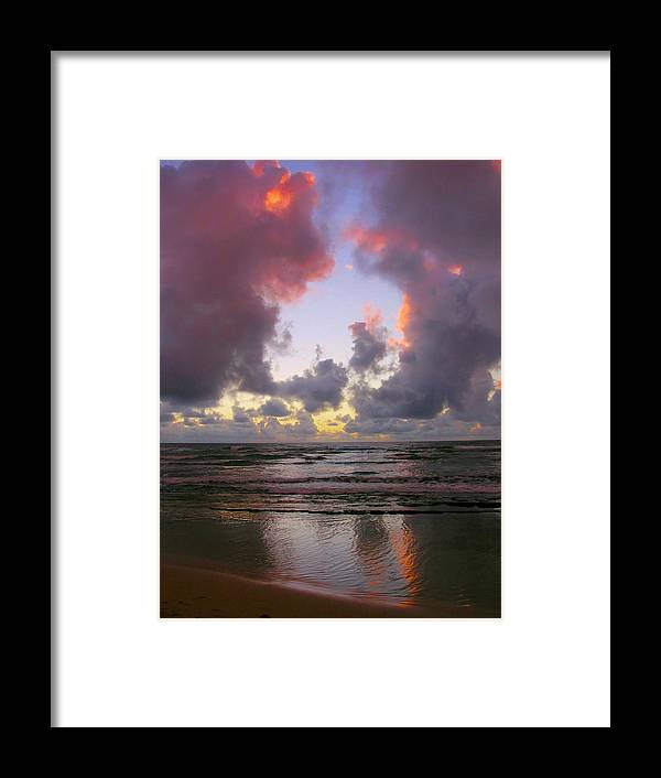 Dawn Framed Print featuring the photograph Dawn Reflections - Kauai by Stephen Vecchiotti