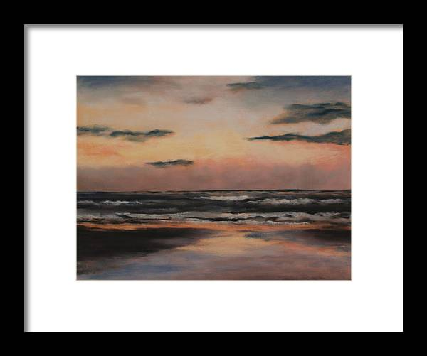 Beach Framed Print featuring the painting Dawn by Sarah Bernhardt