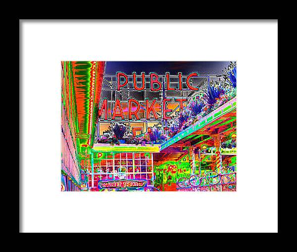 Seattle Framed Print featuring the photograph Day At The Market by Tim Allen