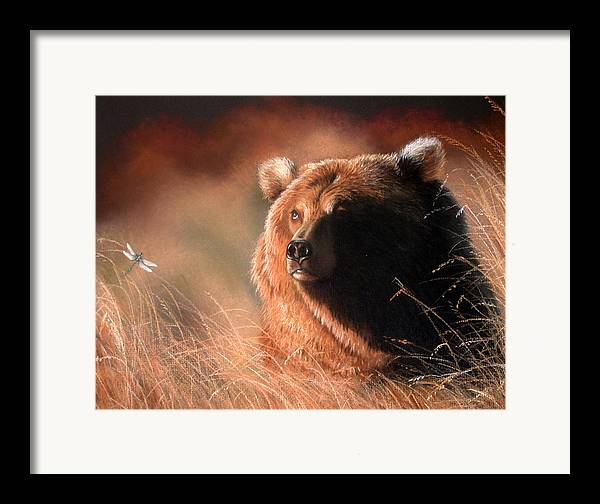 Wildlife Framed Print featuring the painting Day Dream by Deb Owens-Lowe