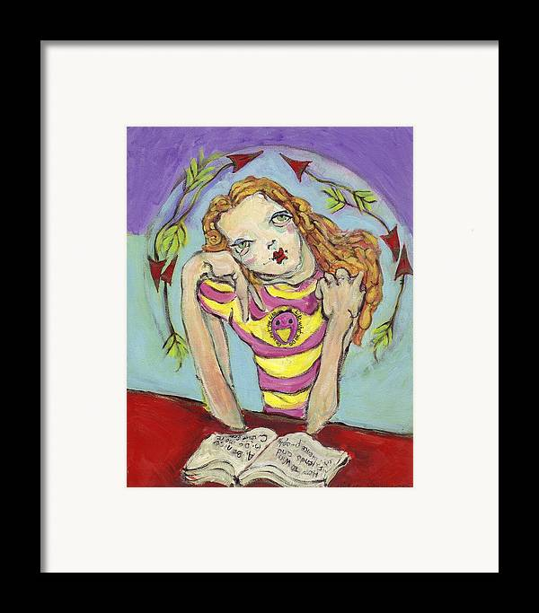 Whimsical Art Framed Print featuring the painting Day Dreamer by Michelle Spiziri