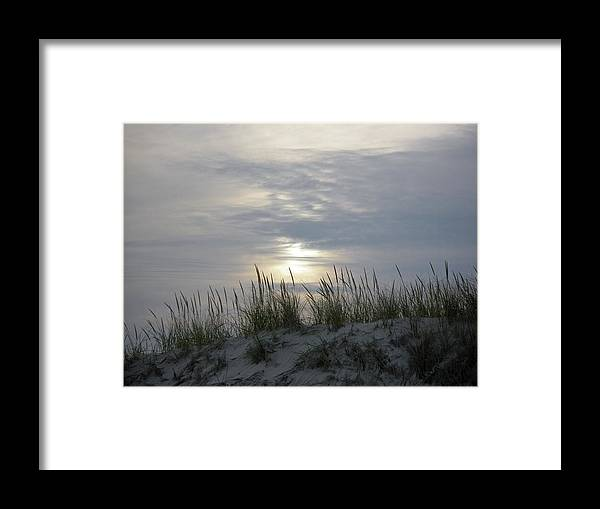 Sky Framed Print featuring the photograph Day Fades Behind The Dunes by Mother Nature